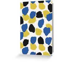 Blue, Yellow & Black Abstract Greeting Card