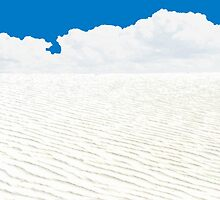 WHITE SANDS, WHITE CLOUDS, BLUE SKY by Thomas Barker-Detwiler