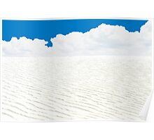 WHITE SANDS, WHITE CLOUDS, BLUE SKY AND ATOM BOMBS Poster