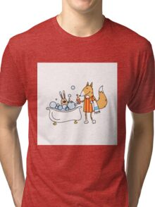 Bathing of a hare. Tri-blend T-Shirt