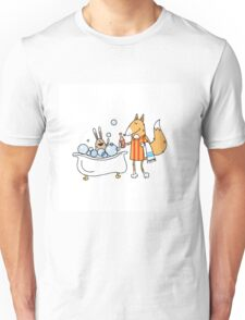 Bathing of a hare. Unisex T-Shirt