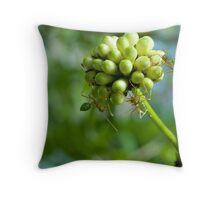 Greenants Throw Pillow