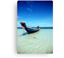 Tropical Boat Canvas Print