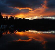 Reflected sunset by Joshdbaker