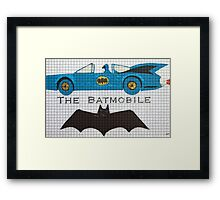 The Bat car Framed Print