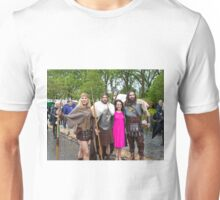 Lesley Joseph with the vikings at Chelsea Flower Show Unisex T-Shirt