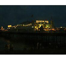 Pride Night Pier Photographic Print