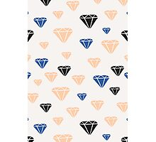 Pink, Blue & Black Diamonds Photographic Print