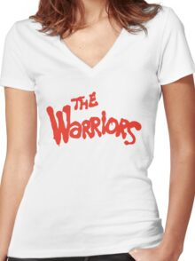 Warriors Come Out to Play  Women's Fitted V-Neck T-Shirt