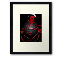 Superman looking for a fight Framed Print