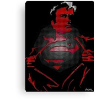 Superman looking for a fight Canvas Print
