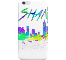 Shanghai China Skyline in water colour iPhone Case/Skin