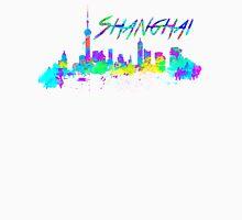 Shanghai China Skyline in water colour Unisex T-Shirt