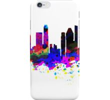 Singapore Skyline in Water Colour iPhone Case/Skin