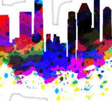 Singapore Skyline in Water Colour Sticker