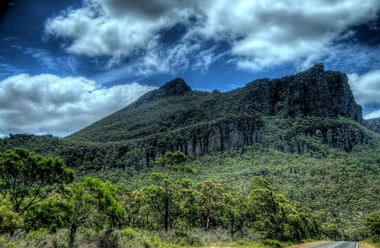 A Road Runs Through It - The Grampians - The HDR Experience by Philip Johnson