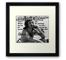 George Best- Spirit in the Sky Framed Print