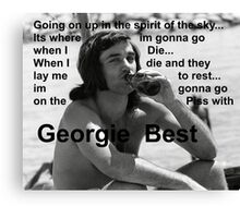 George Best- Spirit in the Sky Canvas Print