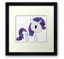 Chibi Rarity Framed Print