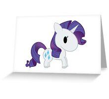 Chibi Rarity Greeting Card