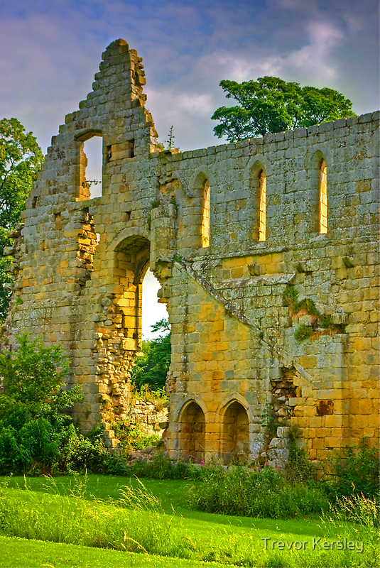 Jervaulx Abbey Ruins by Trevor Kersley