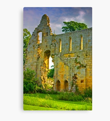 Jervaulx Abbey Ruins Canvas Print