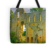 Jervaulx Abbey Ruins Tote Bag
