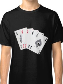 Five aces poker hand Classic T-Shirt