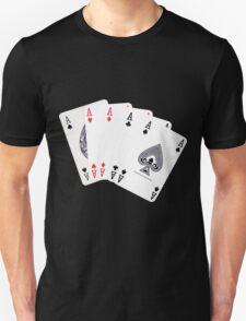 Five aces poker hand T-Shirt