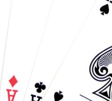 Five aces poker hand Sticker
