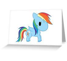 Chibi Rainbowdash Greeting Card