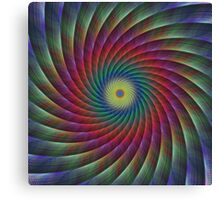 Swirling feather fractal Canvas Print