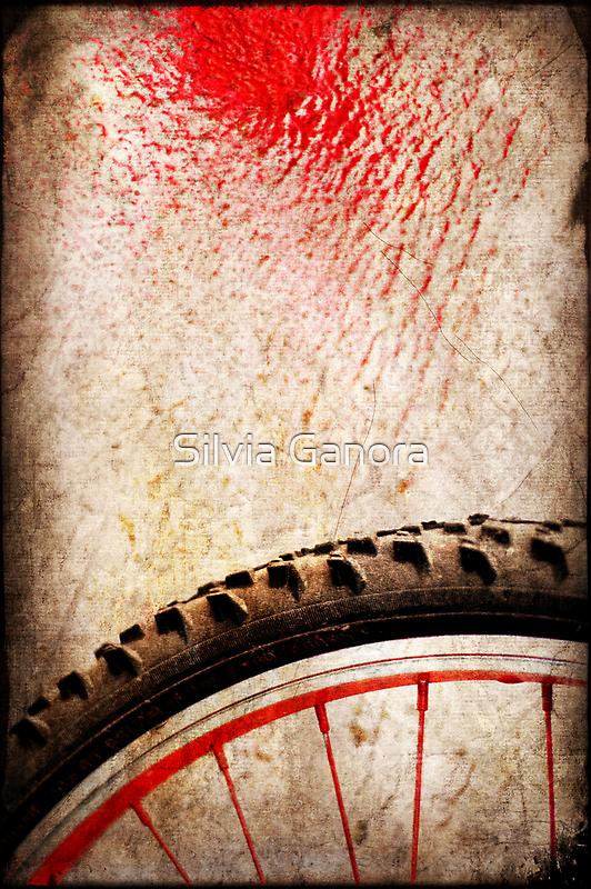 Bike wheel :: Red spray by Silvia Ganora