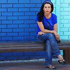 Blue Girl in a blue world by Slavi Barnev