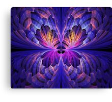 Blue Paper Butterfly Canvas Print