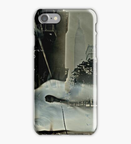 Empire State Building Tintype iPhone Case/Skin