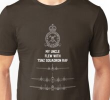 My Uncle flew with 75NZ Squadron RAF Unisex T-Shirt
