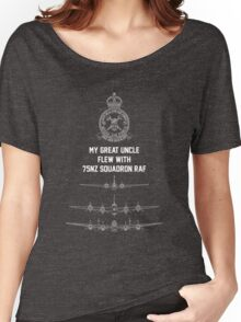 My Great Uncle flew with 75NZ Squadron RAF Women's Relaxed Fit T-Shirt