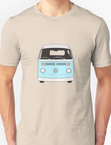 Late Bay VW Camper Pale Blue Front Unisex T-Shirt