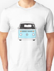 Late Bay VW Camper Pale Blue Front T-Shirt
