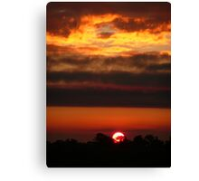 Sunset on fire. Canvas Print