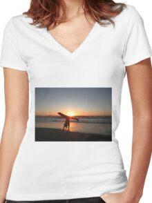 Let Summer Begin Women's Fitted V-Neck T-Shirt