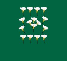 White Calla Lily Womens Fitted T-Shirt