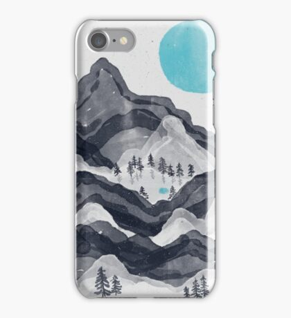 The Sun in Moon Lake... iPhone Case/Skin