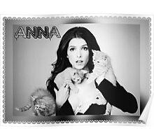 Anna Kendrick Kittens Poster Poster