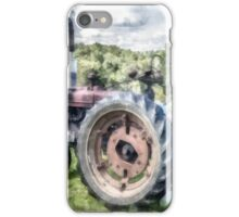 Old Vintage Tractor on the Farm iPhone Case/Skin