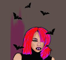 Halloween fun-Girly vampire with bats  Long Sleeve T-Shirt