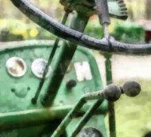 Vintage Green Tractor Steering Wheel Sticker