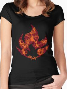 PokeDoodle - Fire Women's Fitted Scoop T-Shirt