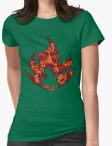 PokeDoodle - Fire Womens Fitted T-Shirt